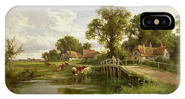English Village iPhone Case - On The Thames Near Marlow by Henry Parker
