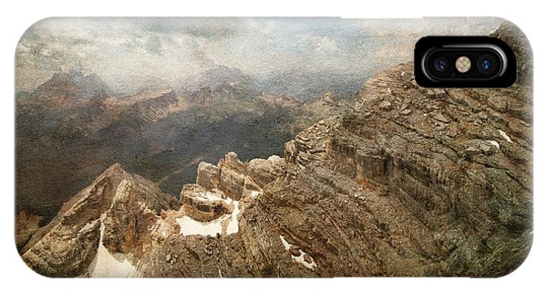 On The Top Of The Mountain  IPhone Case