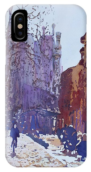 Gaudi iPhone Case - On The Way To The Sagrada Familia by Jenny Armitage