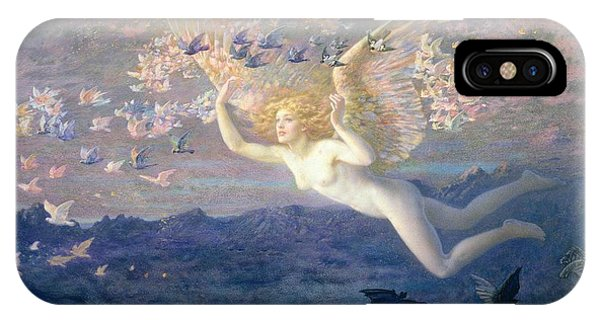 1851 iPhone X Case - On The Wings Of The Morning by Edward Robert Hughes