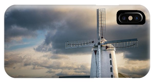 Windmill iPhone Case - On The Wings Of Time by Evelina Kremsdorf