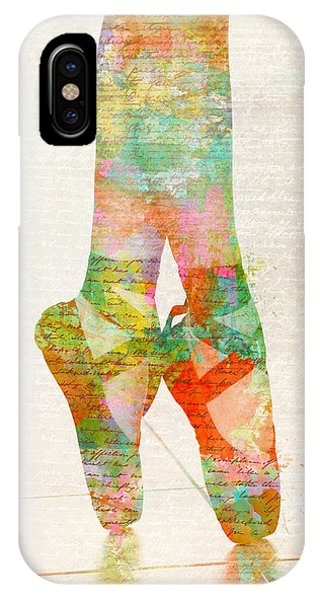 Ballerina iPhone Case - On Tippie Toes by Nikki Smith