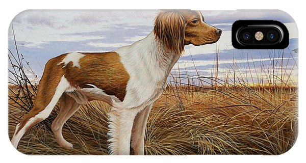 On Watch - Brittany Spaniel IPhone Case