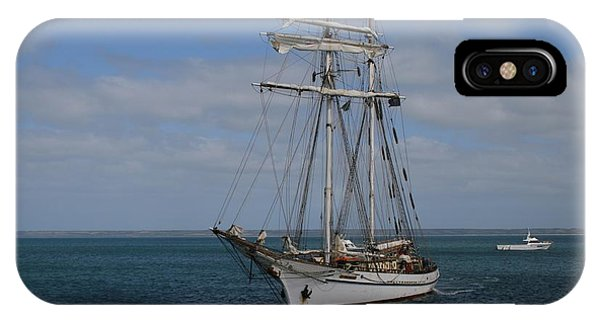 IPhone Case featuring the photograph Approaching Kingscote Jetty by Stephen Mitchell