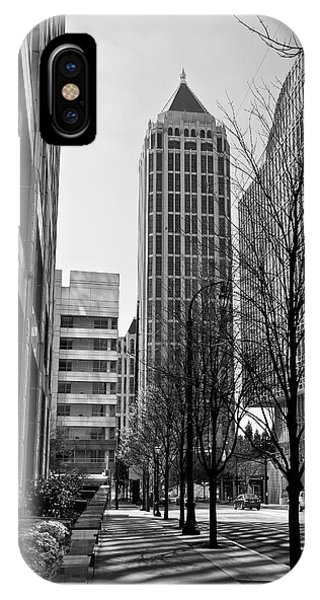 One Atlantic Center In Black And White IPhone Case