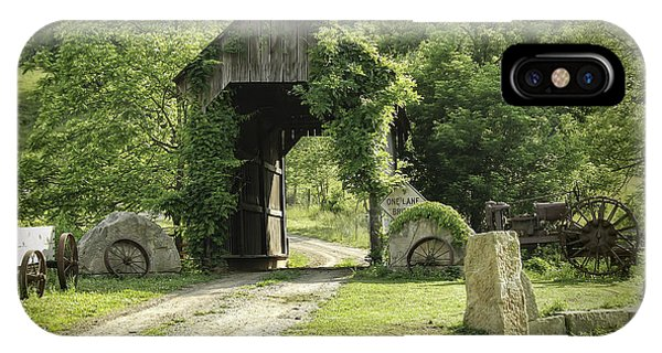 One Lane Covered Bridge IPhone Case