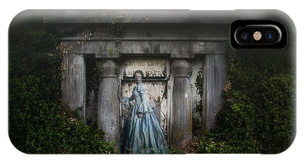 Cemetery iPhone Case - One Last Look by Tom Mc Nemar