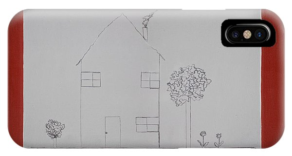 Etch-a-sketch iPhone Case - One Line by Tom Swearingen