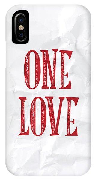 Valentines Day iPhone X Case - One Love by Samuel Whitton