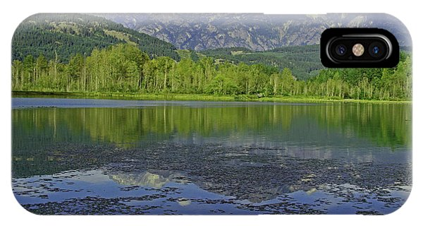 One Mile Lake Reflections 1a Phone Case by Walter Fahmy