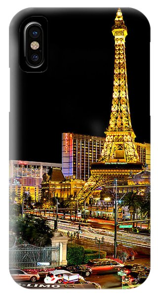 American Cars iPhone Case - One Night In Vegas by Az Jackson
