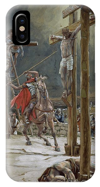 Life Of Christ iPhone Case - One Of The Soldiers With A Spear Pierced His Side by Tissot