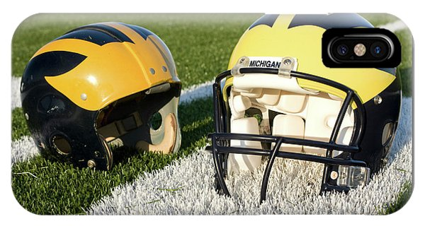 One Old, One New Wolverine Helmets On The Field IPhone Case