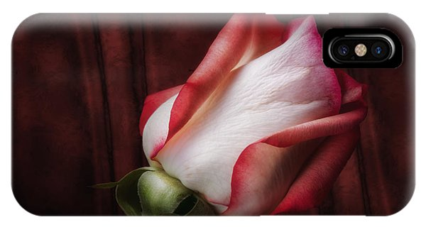 Blooming iPhone Case - One Red Rose Still Life by Tom Mc Nemar