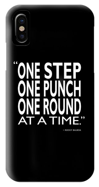 Rocky iPhone Case - One Step One Punch One Round by Mark Rogan