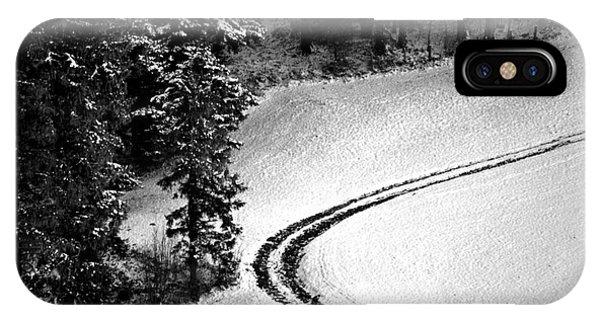 One Way - Winter In Switzerland IPhone Case