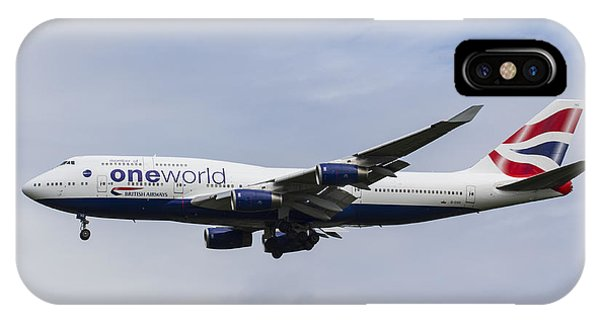 One World Boeing 747 IPhone Case
