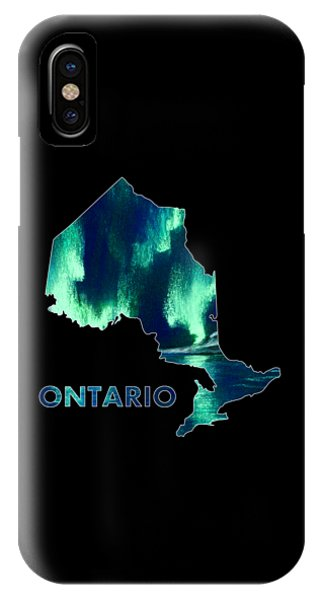 Ontario - Northern Lights - Aurora Hunters IPhone Case