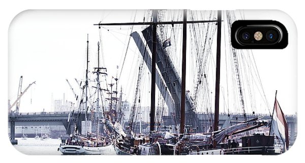 IPhone Case featuring the photograph Oosterschelde Leaving Port by Stephen Mitchell