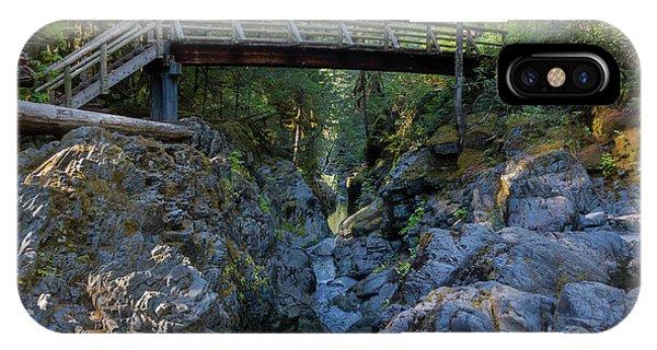 Opal Creek Bridge IPhone Case
