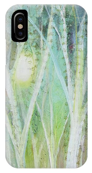 Snowy iPhone Case - Opalescent Twilight I by Shadia Derbyshire
