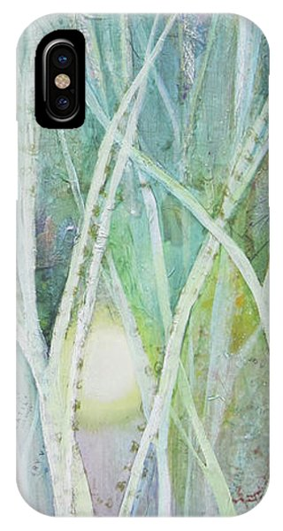 Snowy iPhone Case - Opalescent Twilight II by Shadia Derbyshire