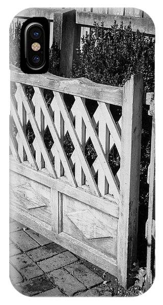 Open Garden Gate B W IPhone Case