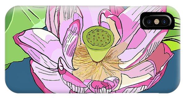 Open Lotus IPhone Case