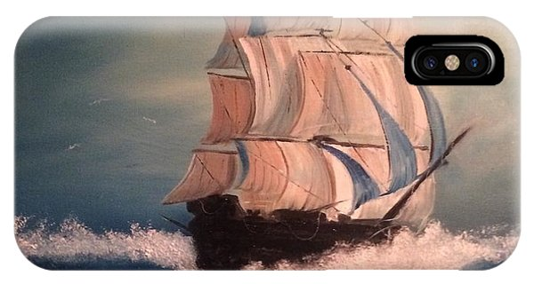 IPhone Case featuring the painting Open Seas by Denise Tomasura