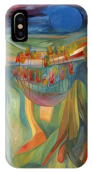 IPhone Case featuring the painting Open To Receive The Light by Linda Cull