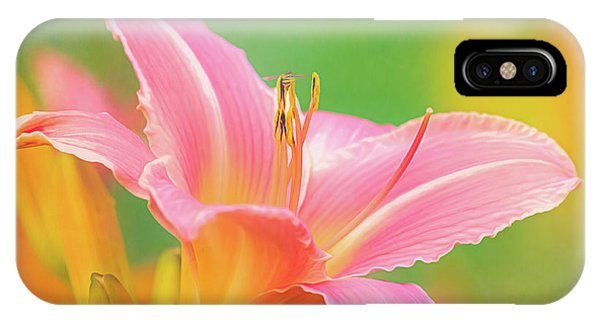 Oporto Daylily With Hoverfly IPhone Case
