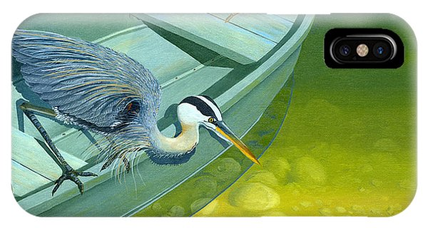 Opportunity-the Great Blue Heron IPhone Case