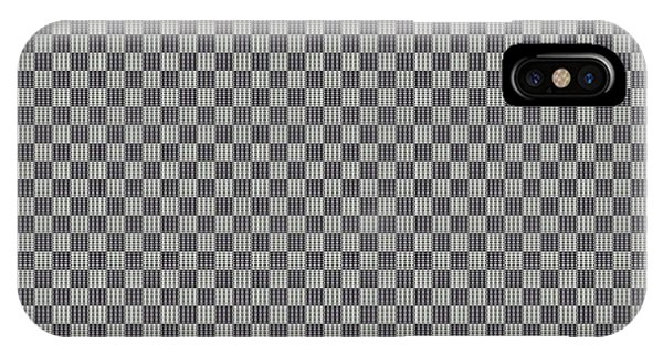 Visual Illusion iPhone Case - Opposites Attract Checkerboard 10 X 10 by Helena Tiainen