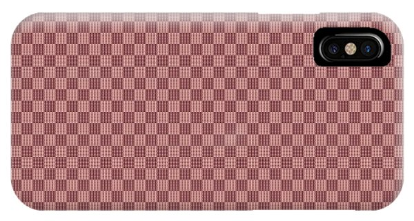 Visual Illusion iPhone Case - Opposites Attract Checkerboard 10 X 10 In Pink by Helena Tiainen