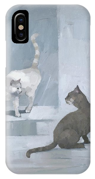 IPhone Case featuring the painting Opposites by Steve Mitchell
