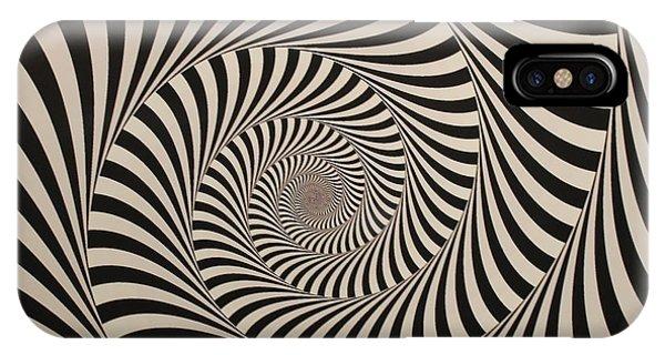 Optical Illusion Beige Swirl IPhone Case