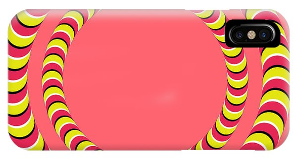 Optical Illusion Circle In Circle IPhone Case