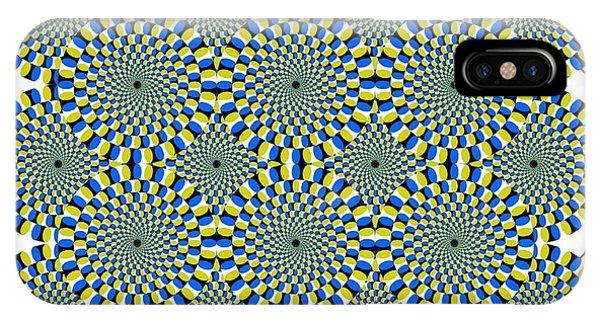 Optical Illusion Spinning Circles IPhone Case