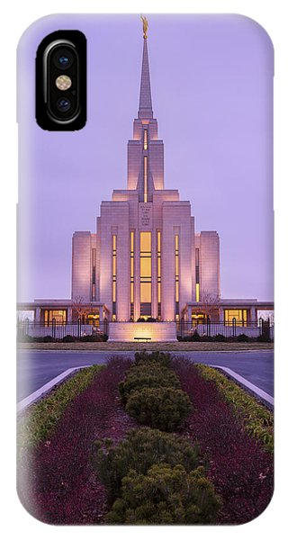 Temple iPhone Case - Oquirrh Fall by Chad Dutson