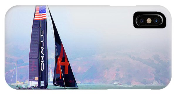 Oracles Usa  America's Cup Paint  IPhone Case