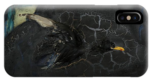 Oracular Inquiry - Ecological Footprint - Drilling Permits - Crude Oil Offshore Energy - Das Orakel IPhone Case