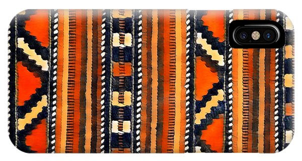 Orange Abstact Pattern Lines And Stripes IPhone Case