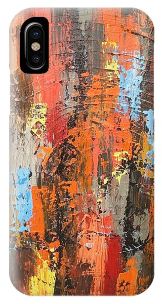Orange Abstract IPhone Case