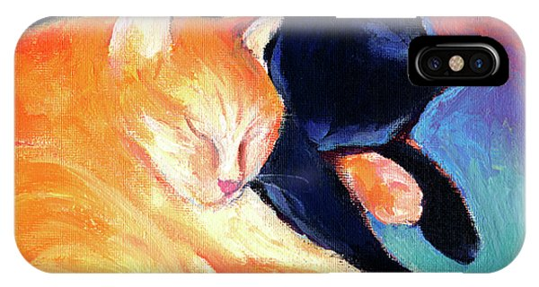 Tabby iPhone Case - Orange And Black Tabby Cats Sleeping by Svetlana Novikova