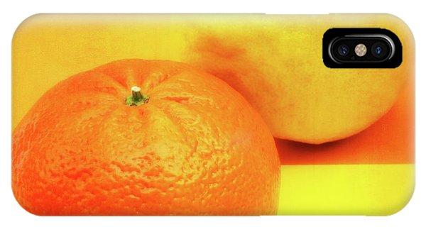 Grapefruit iPhone Case - Orange And Lemon by Wim Lanclus
