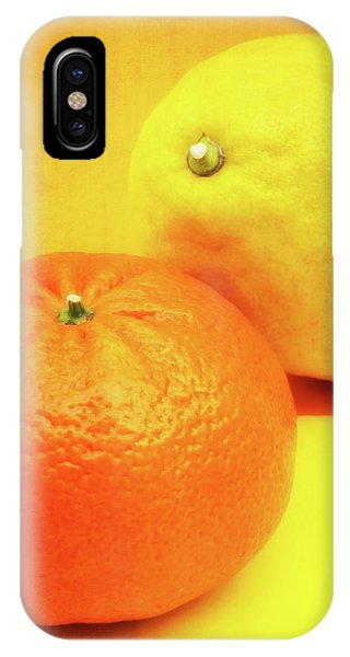 Grapefruit iPhone Case - Orange And Lemon by Wim Lanclus