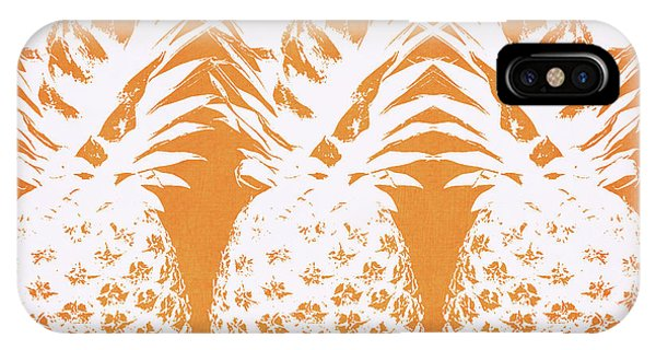 Fruit iPhone Case - Orange And White Pineapples- Art By Linda Woods by Linda Woods