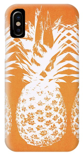 Market iPhone Case - Orange And White Pineapples- Art By Linda Woods by Linda Woods