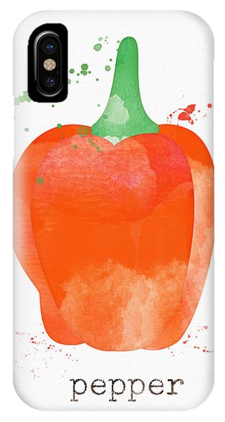 Farm iPhone Case - Orange Bell Pepper  by Linda Woods