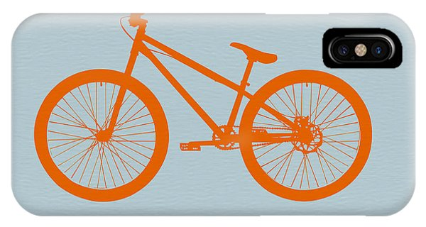 Bicycle iPhone X Case - Orange Bicycle  by Naxart Studio